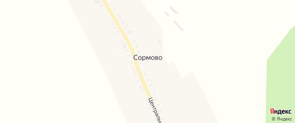 Центральная улица на карте деревни Сормово с номерами домов