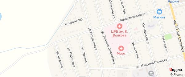 Улица Мордвинова на карте Ядрина с номерами домов
