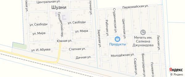 Южная улица на карте села Шуани с номерами домов