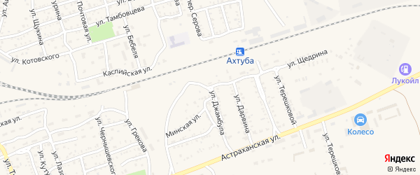 Улица Щедрина на карте Ахтубинска с номерами домов