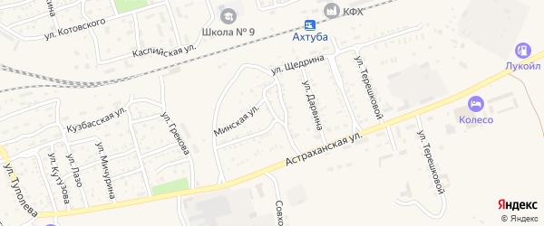 Переулок Джамбула на карте Ахтубинска с номерами домов