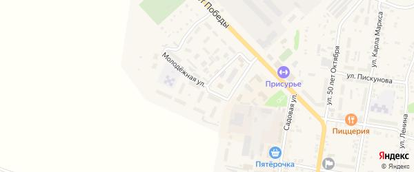 Молодежная улица на карте Ядрина с номерами домов