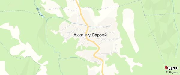Карта села Ахкинчу-Барзой в Чечне с улицами и номерами домов
