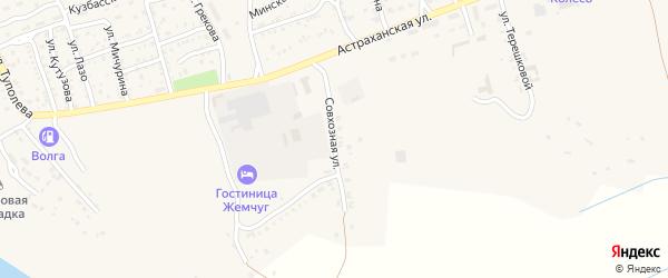 Совхозная улица на карте Ахтубинска с номерами домов