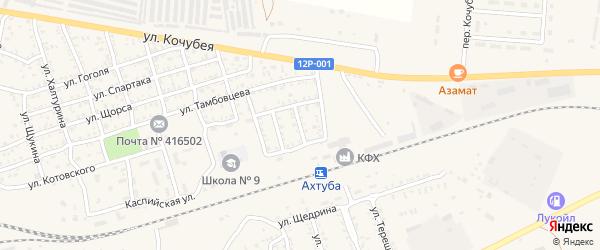 Оперная улица на карте Ахтубинска с номерами домов
