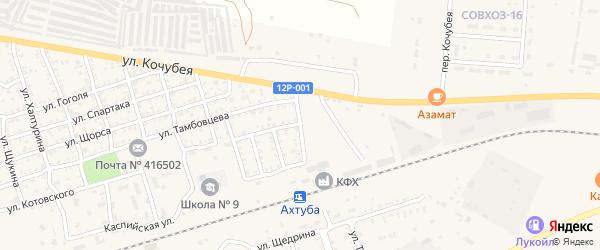 Театральная улица на карте Ахтубинска с номерами домов