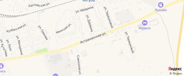 Астраханская улица на карте Ахтубинска с номерами домов
