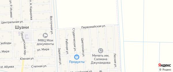 Улица В.Дагаева на карте села Верхний-Нойбер с номерами домов