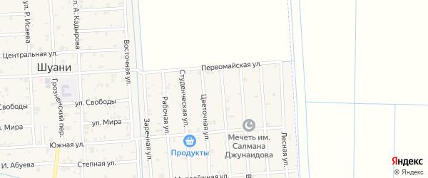 Улица Ханбитирова на карте села Илсхан-Юрт с номерами домов