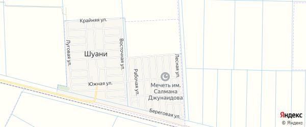 Карта села Хангиш-юрт в Чечне с улицами и номерами домов