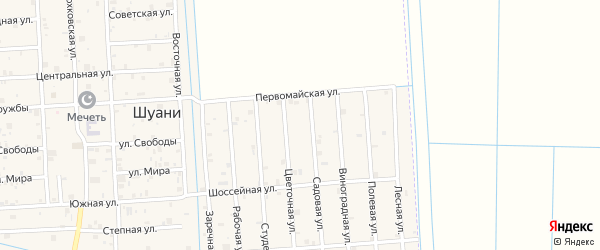 Июньская улица на карте села Нового Энгеной с номерами домов