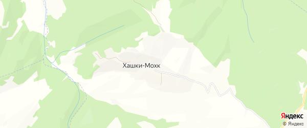 Карта села Хашки-Мохк в Чечне с улицами и номерами домов