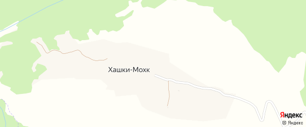 Улица А.А.Кадырова на карте села Хашки-Мохк с номерами домов