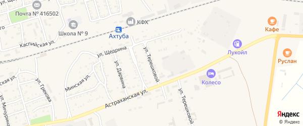 Улица Терешковой на карте Ахтубинска с номерами домов