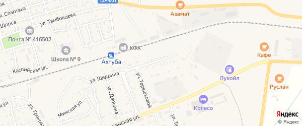 Улица Николаева на карте Ахтубинска с номерами домов