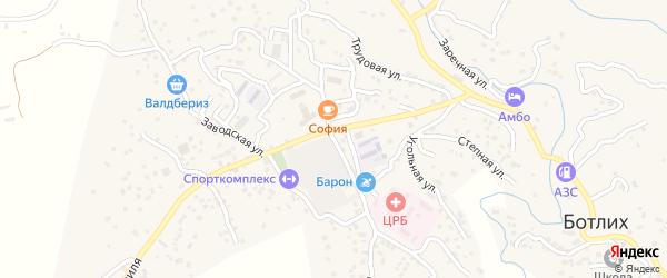 Улица Свободы на карте села Ботлиха с номерами домов