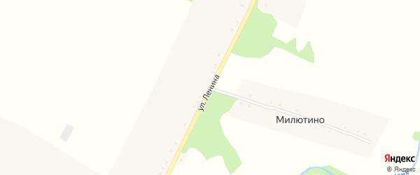 Улица Ленина на карте деревни Милютино с номерами домов