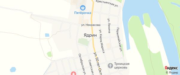СТ Восход на карте Ядрина с номерами домов