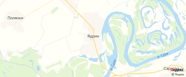 Карта Ядрина с районами, улицами и номерами домов