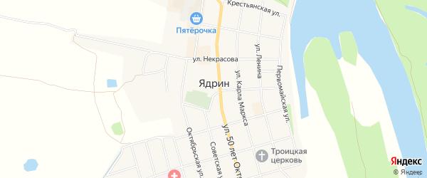 СТ Березка на карте Ядрина с номерами домов