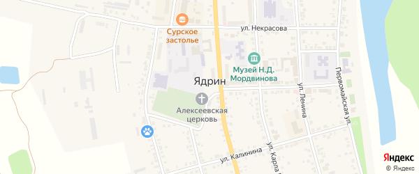 Улица Ф.Орлова на карте Ядрина с номерами домов