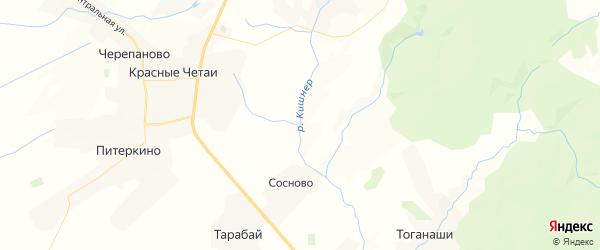 Карта Большеатменского сельского поселения республики Чувашия с районами, улицами и номерами домов