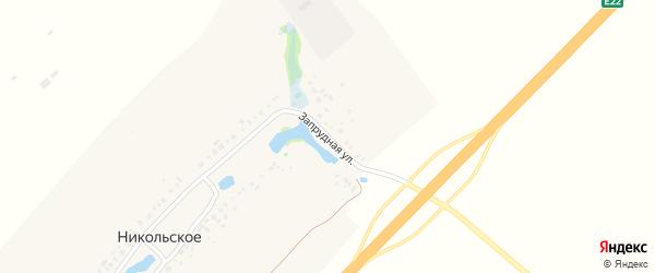 Запрудная улица на карте Никольского села с номерами домов