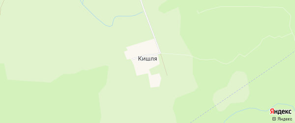 Карта деревни Кишля в Чувашии с улицами и номерами домов