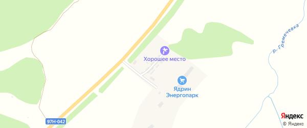 Совхозная улица на карте Ядрина с номерами домов
