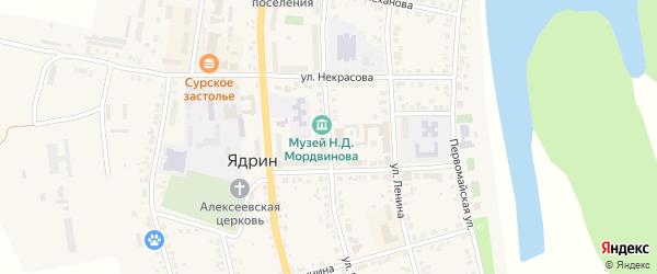 Улица К.Маркса на карте Ядрина с номерами домов