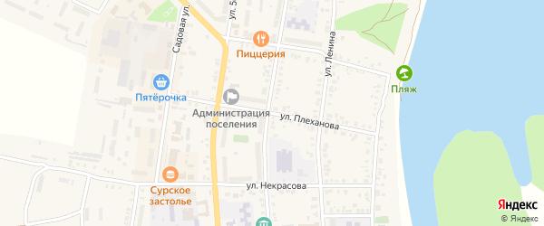 Улица Плеханова на карте Ядрина с номерами домов