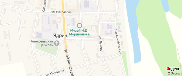 Красноармейская улица на карте Ядрина с номерами домов