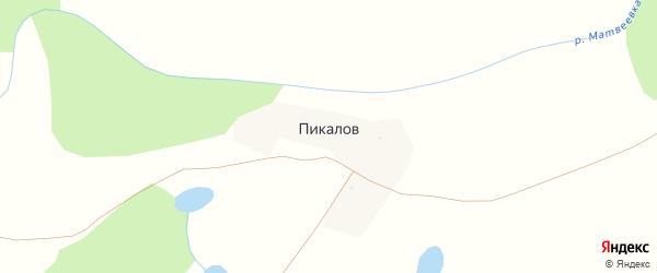 Хутор Пикалов на карте села Черного Яра с номерами домов