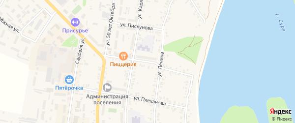 Крестьянская улица на карте Ядрина с номерами домов