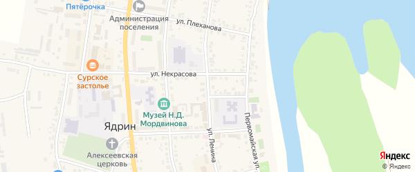 Улица Ленина на карте Ядрина с номерами домов
