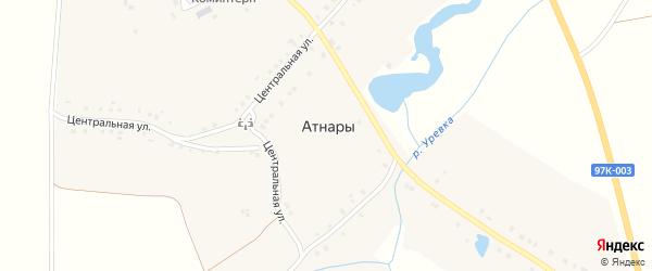 Лесная улица на карте села Атнар с номерами домов