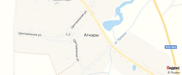 Центральная улица на карте села Атнар с номерами домов