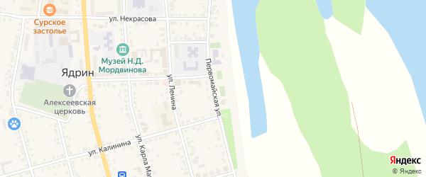 Первомайская улица на карте Ядрина с номерами домов