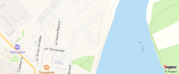 Улица Достоевского на карте Ядрина с номерами домов