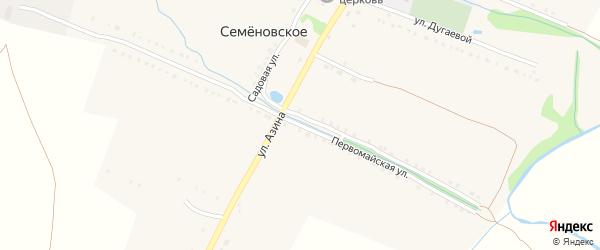 Первомайская улица на карте Семеновского села с номерами домов