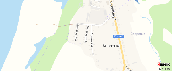 Улица Гагарина на карте Ядрина с номерами домов