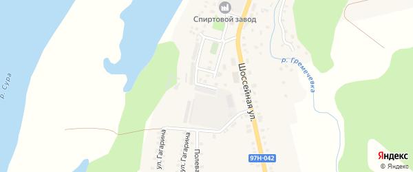 Улица Дружбы на карте Ядрина с номерами домов