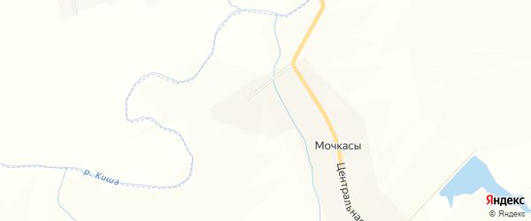 Карта деревни Мочкасы в Чувашии с улицами и номерами домов