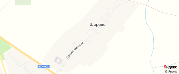 Пришкольная улица на карте села Атнар с номерами домов