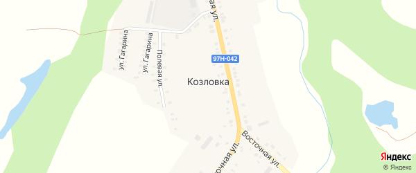 Полевая улица на карте деревни Козловки с номерами домов
