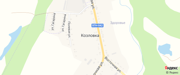 Совхозная улица на карте деревни Козловки с номерами домов