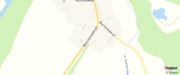 Восточная улица на карте деревни Козловки с номерами домов