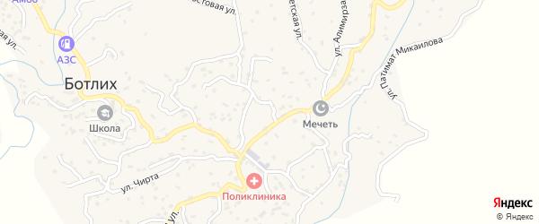 Улица Алимирзоева на карте села Ботлиха с номерами домов