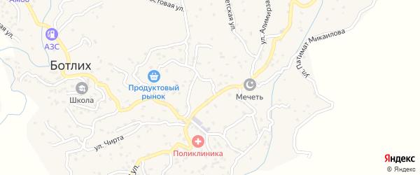 Улица Им Шамиля на карте села Ботлиха с номерами домов