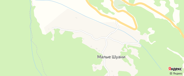 Крайняя улица на карте села Малых Шуани с номерами домов